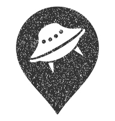 Ufo Place Grainy Texture Icon vector