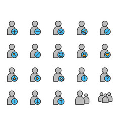 user related icon set vector image