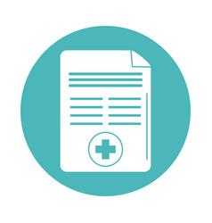 Virus covid 19 pandemic report document medical vector