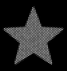 White pixelated fireworks star icon vector