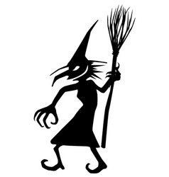 Witch evil stencil vector