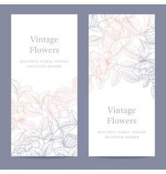 Decorative english garden rose vector image