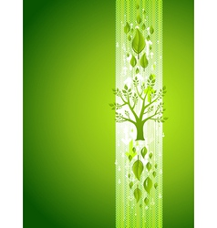 Green Tree Eco Background with Leafs vector image vector image