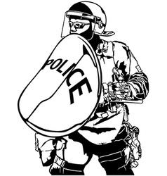 Police Heavy Armor vector image