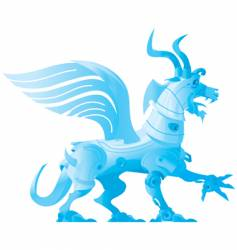 robot dragon vector image vector image