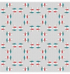 seamless sea pattern with boats on waves vector image