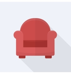 Single soft chair vector image