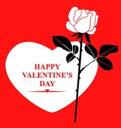 valentine rose white vector image vector image