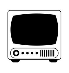 Vintage tv icon image vector