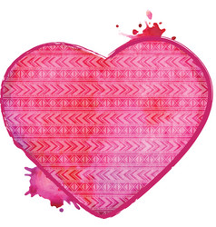 watercolor heart valentines art vector image vector image