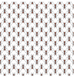 ants seamless pattern for textile design wallpaper vector image vector image