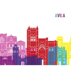 Avila skyline pop vector image vector image