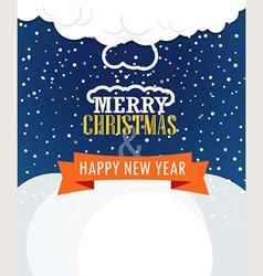 Christmas greating card vector image