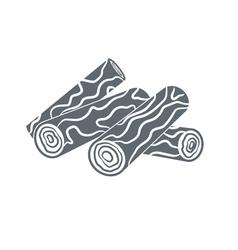 firewood icon vector image
