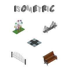 Isometric architecture set of sitting vector