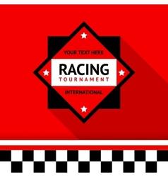 Racing badge 02 vector