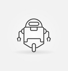 robot minimal icon in thin line style vector image vector image