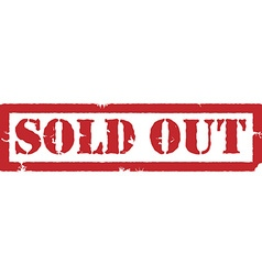 Sold out stamp vector image vector image