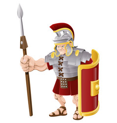 strong roman soldier vector image vector image