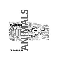 animals in australia text word cloud concept vector image