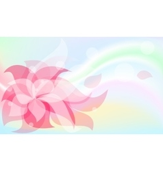 background red flower vector image vector image