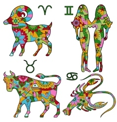 Colofrul horoscope vector image vector image