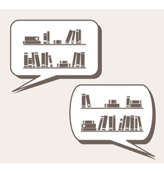 Conversation about knowledge books learning vector image vector image