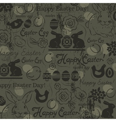 Easter background with rabbits vector image vector image