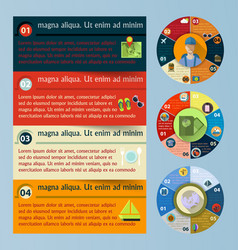 flat infographic elements vector image vector image