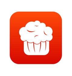 cupcake icon digital red vector image vector image