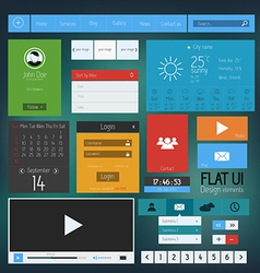 flat web design elements 4 vector image vector image