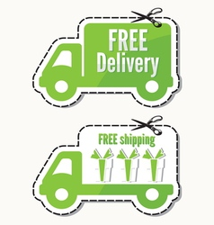 Free delivery free shipping labels vector image vector image