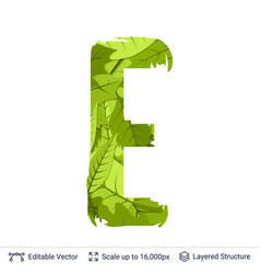 spring green bright leaves letter vector image vector image
