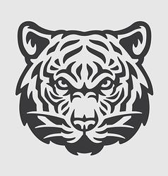 Tiger head logo mascot emblem vector