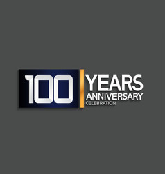 100 years anniversary logotype with blue vector