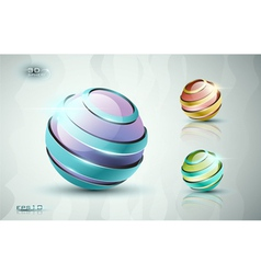 3d sphere icons vector image