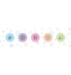 5 league icons vector