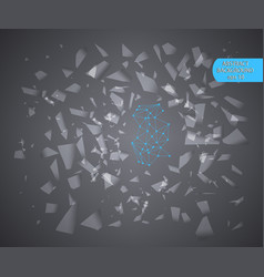 abstract geometric of small pieces of glass vector image