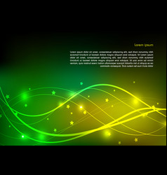 abstract shining background in green and yellow vector image