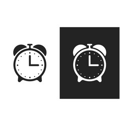 Alarm clock flat icons vector