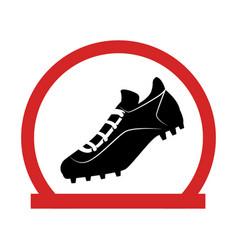 baseball shoes sport emblem icon vector image