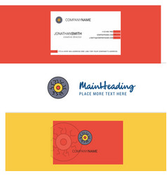 beautiful eye ball logo and business card vector image