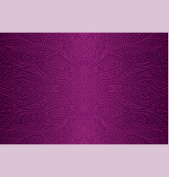 beautiful line art with violet abstract pattern vector image