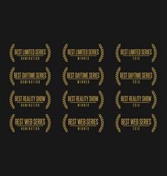 Best tv show nomination award vector