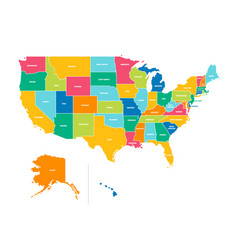 Blank similar usa map isolated on white vector