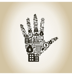 Business a hand2 vector image