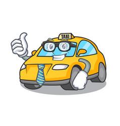 Businessman taxi character cartoon style vector
