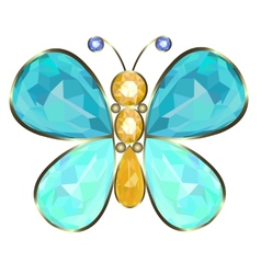 butterfly brooch vector image