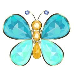 Butterfly brooch vector
