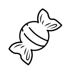 Candy icon cartoon black and white vector